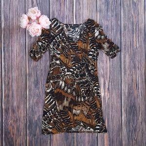 Connected Apparel, Faux Wrap Dress, 14